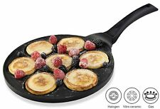 Gourmia GPA9510 Blini Pan Nonstick Silver Dollar Pancake Pan With 7-Mold Design