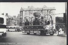 Postcard Size Real Photograph - Rotherham Corp Tramways  A7107