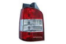 VW Transporter T5 Rear Back Tail Light Lens Lamp 2003 – 2010 Left N/S Red /Clear