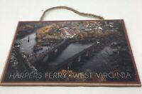 """Harpers Ferry West Virginia Wood Sign, 7x10.5"""""""
