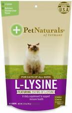 (4 Pack) Pet Naturals of Vermont L-Lysine Supplement for Cats 60 Chews 3.74oz