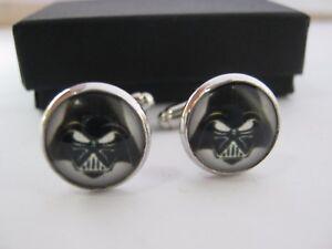 """Star Wars Darth Vader Cufflinks 14mm (1/2"""") Cufflinks Boys Mens Stocking Fillers"""