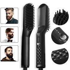 UKLISS Electric Beard Straightener Brush 2.0, Hair Straightening Comb, Quick ...