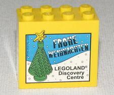 LEGO YELLOW 2 X 4 X 3 DOT XMAS CHRISTMAS TREE BLOCK