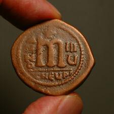 B12-24 BYZANTINE  Maurice Tiberius 582-602AD    Æ Follis   Antioch mint, year 8