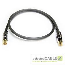 HDTV Antennenkabel 5m 120dB 3-fach geschirmt Class A schwarz IEC + HI-ANCM01