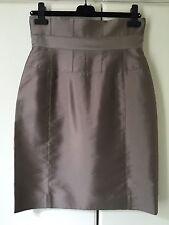 New Amanda Wakeley high waisted silk pencil skirt with boning I44 UK12