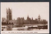 London Postcard - The Houses of Parliament From The River Thames  RS7413