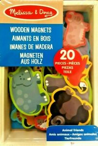 Melissa and Doug ANIMAL FRIENDS Wooden Magnets Set Toy