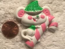 Avon Christmas Mouse with Candy Cane Pin / Brooch