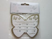 10 Wedding Trivia Scratch Cards | Gold Butterfly | Table Decoration Favours