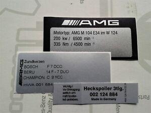 AMG sticker W124 300E-24V, 3.4 E34, 272 PS, M104