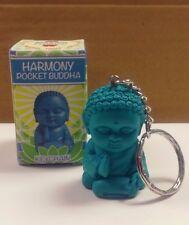 "POCKET BUDDHA FIGURINE KEYCHAIN ""HARMONY"" (BLUE) BUDDHA"