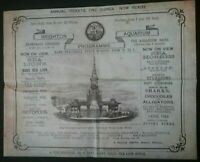 VICTORIAN PROGRAMME , BRIGHTON AQUARIUM ,  8 PAGE PROGRAMME *(SEE DESCRIPTION)*