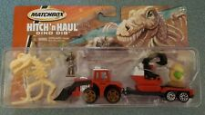 Matchbox Hitch 'n Haul ~ Dino Dig! Front Loader and Figures! New!