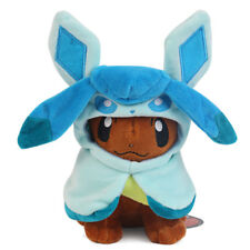 Pokemon Plush Doll Eevee Poncho Glaceon Cloak Stuffed Animal Toy 8inch