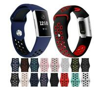 Sports Strap for Fitbit Charge 3 Replacement Band Secure *UK* Wristband