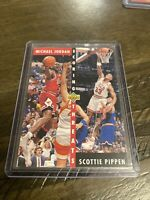 MICHAEL JORDAN 1992-93 Upper Deck Scoring Threats #62 Chicago Bulls Mint Pippen