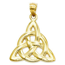 14k Yellow Gold Celtic Knot Charm Pendant - 22x30mm 2 Grams