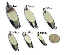 Set of 20 CHROME 1oz. (28gr.) KastMaster Kast Master Type Jigs w/ Rings NO Hooks