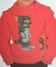 Tom and Jerry Jumper KNITTING PATTERN (PN009)