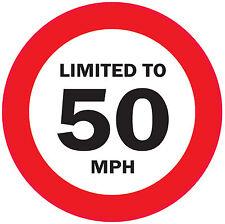 5 x limitato al 50 MPH 125mm veicolo limitazione della velocità Autoadesivo-VAN / WAGGON / AUTOCARRO