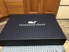 9 New Vineyard Vines Empty Gift Box Magnetic Closure size 15.5�x11.5�x2 1/4�