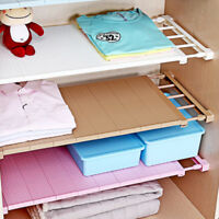 Adjustable Storage Rack Shelf Closet Organizer Extendable For Kitchen Cupboard