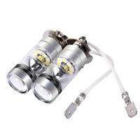 2X H3 LED Fog Light 100W Super Bright Chips Car Driving Bulb 12/24V White Top UK