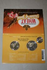 (PL) 2012 Australia Wheat - Fields of Gold Two Unc Coin Mint Set ROYAL MINT RAM