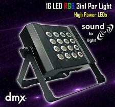 LED RGB SLIM PAR luz 3in1 16x3W Lavado De Pared Dmx De Alta Potencia De Sonido