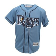 Tampa Bay Rays MLB Majestic Cool Base Kids Youth Size 20 Year Anniversary Jersey