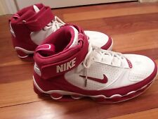Nike Air Shox Ups Men's Size 17 Basketball Shoes Red White Sneakers Gym MINT!