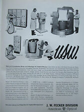 1/1963 PUB AMERICAN OPTICAL J W FECKER MODEL 052 081 152 ORIGINAL GERMAN AD