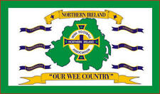 """Ireland """"Our Wee Country"""" 5Ft X 3Ft Irish Ireland Flag 5X3' St Patrick Day Party"""