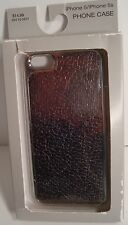 Apple iPhone 5 / 5S   Crackled Foil Gunmetal Phone Case_New in Package