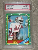 1986 Topps Jerry Rice #161 Rookie PSA 8 Near Mint to Mint