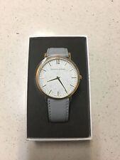 Larsson & Jennings Lugano 40mm Watch - Grey leather white dial NWT