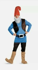Papa Gnome Smurf Adult Halloween Costume One Size Fits Most -New Opened Package