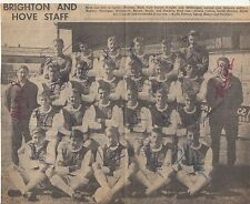 BRIGHTON AND HOVE TEAM PHOTO AUTOGRAPHED