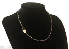 Bellissima collana rosario modello girocollo in puro acciaio colore argento