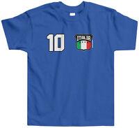 Threadrock Kids Team Italia Soccer Toddler T-shirt Italy Italian Football