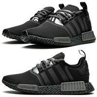 New ADIDAS NMD R1 BOOST athletic sneaker Mens casual shoes black all sizes