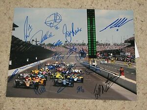 WILL POWER MARCO ANDRETTI +19 INDYCAR DRIVERS SIGNED 11X14 PHOTO coa INDY 500
