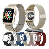 Milanese Loop Stainless Steel Watch Band Strap Case For Apple Watch Series 5 4 3