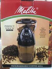 Melitta Perfect Touch + MEBG8B Programmable Coffee Mill Grinder Variable Grind