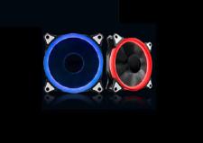 2 Neon Leuchtringe mit Zigarettenanzünderadapter 12V rot für Subwoofer, Lüfter