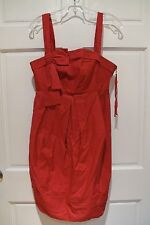 Marc by Marc Jacobs Dress Red Bustier Pinup Rockabilly Bow Daytime Cocktail Sz 8