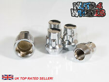 4x Chrome Locking Wheel Nuts M12x1.5 Fit Daihatsu Grand Move Terios Trevis Cuore
