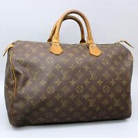 LOUIS VUITTON SPEEDY 35 Hand Bag Doctor Purse Monogram M41524 w/ Padlock